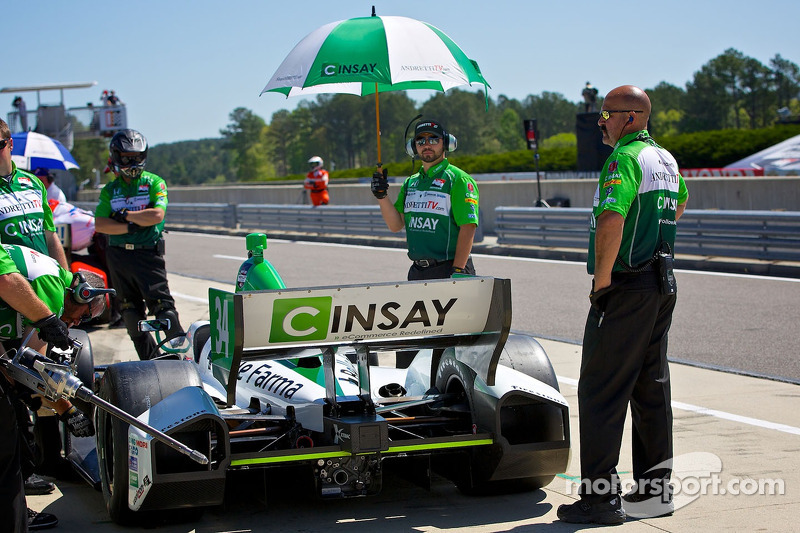 Andretti-HVM penalized for pit road infraction at Barber