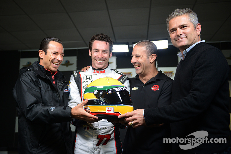 Pagenaud to wear Senna's helmet scheme in the Indy 500
