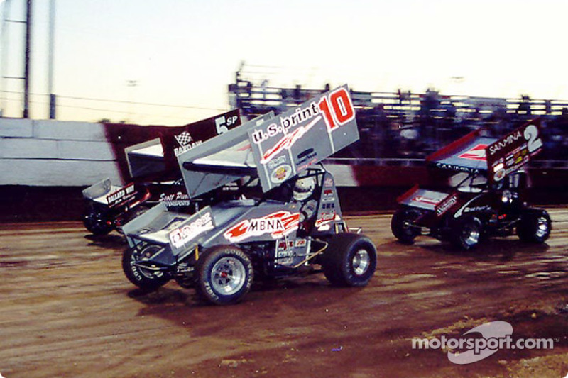 Dale Blaney battles to the win in WoO feature at Attica Raceway Park