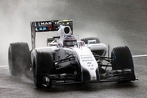 In a weather affected qualifying session at Silverstone: Bottas 17th, Massa 18th