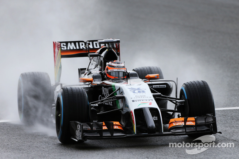 Hulkenberg will line up on the second row of the grid on tomorrow's British GP