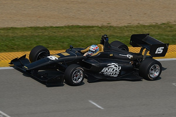 All-new Indy Lights car makes its first public on-track appearance