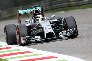 Mercedes' Hamilton took pole position for the 2014 Italian GP