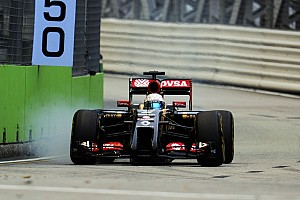 Lotus endured a frustrating qualifying session at the Marina Bay Street Circuit