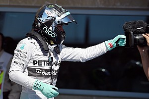 Rosberg took pole position for tomorrow's United States GP