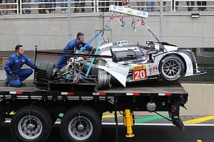WEC Breaking news Conscious Mark Webber taken away by stretcher following accident