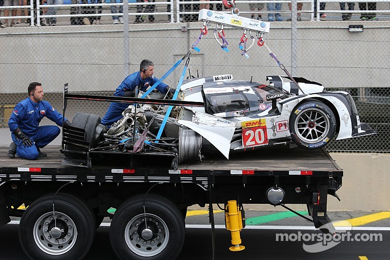 Conscious Mark Webber taken away by stretcher following accident