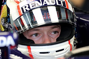 Kvyat relaxed as he takes over Vettel's cockpit