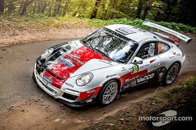 Romain Dumas at the Monte-Carlo Rally  with his Porsche