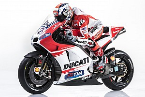 New Desmosedici GP15 presented today at Ducati Auditorium in Bologna
