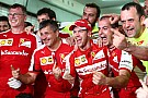 Ferrari claims first win since spain 2013 with a two-stop strategy  in extremely hot conditions
