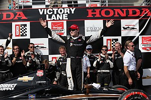 IndyCar Race report Newgarden breaks through for first IndyCar win at Barber