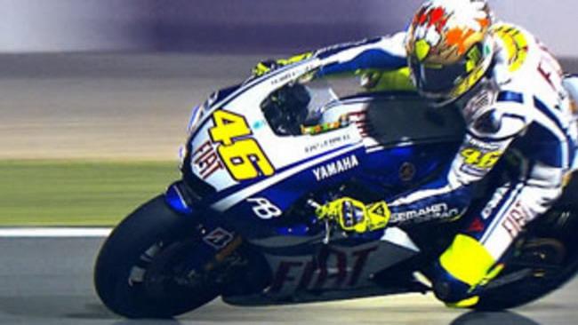 MotoGP 2010, Qatar, Test Night/1: subito Rossi