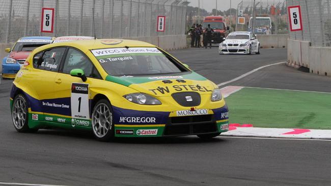 Gabriele Tarquini... tra semafori e bandiere gialle
