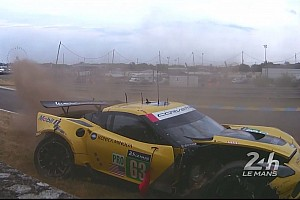 Corvette withdraw No. 63 from Le Mans after crash