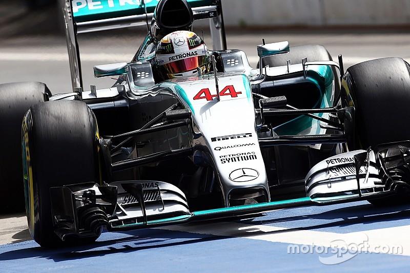Hamilton sereno a pesar de sus errores en la pista
