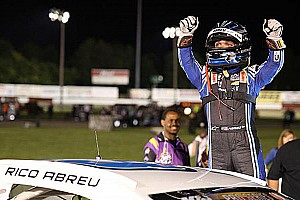 NASCAR Breaking news Rico Abreu earns first NASCAR win in K&N East race