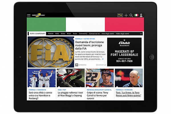 Motorsport.com launches new digital platform in Italy