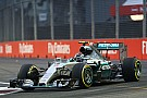 Mercedes: Hot and sticky on the first day of running at the Marina Bay Circuit