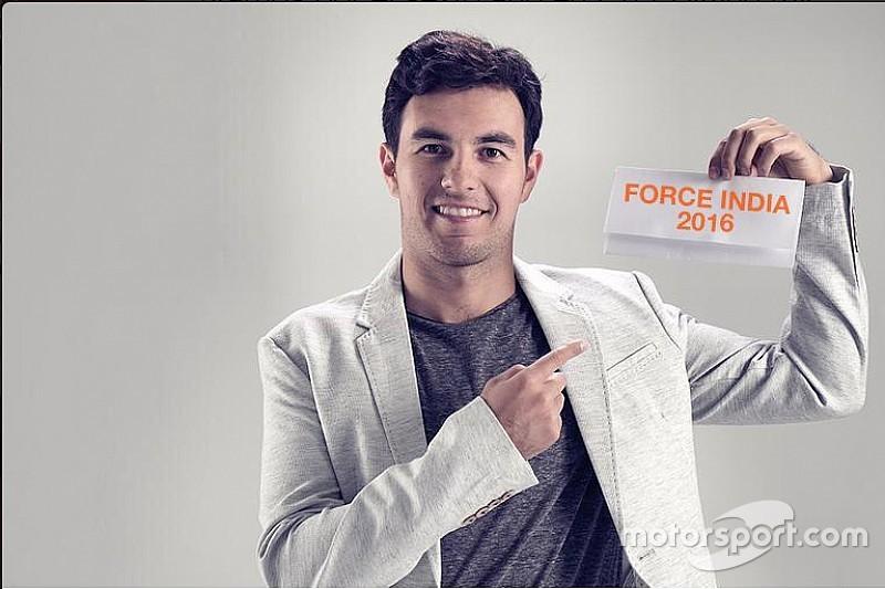 Sergio Pérez está feliz con su renovación con Force India