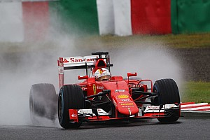 Formula 1 Practice report Ferrari on Friday practice for the Japanese GP: A wet start