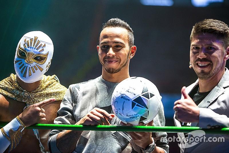 Hamilton se convirtió en un luchador en México
