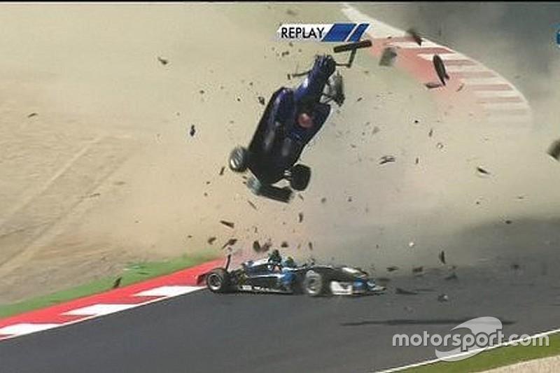 F3ヨーロッパ選手権で大クラッシュ。黎智聰が骨折で病院に搬送