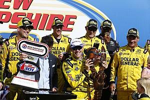 Monster Energy NASCAR Cup Raceverslag Kenseth wint in New Hampshire maar auto niet door keuring