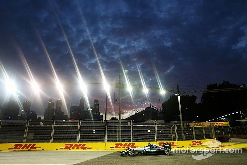 F1シンガポールGP FP2:ロズベルグがトップ奪還。ハミルトンはトラブルで終盤走れず