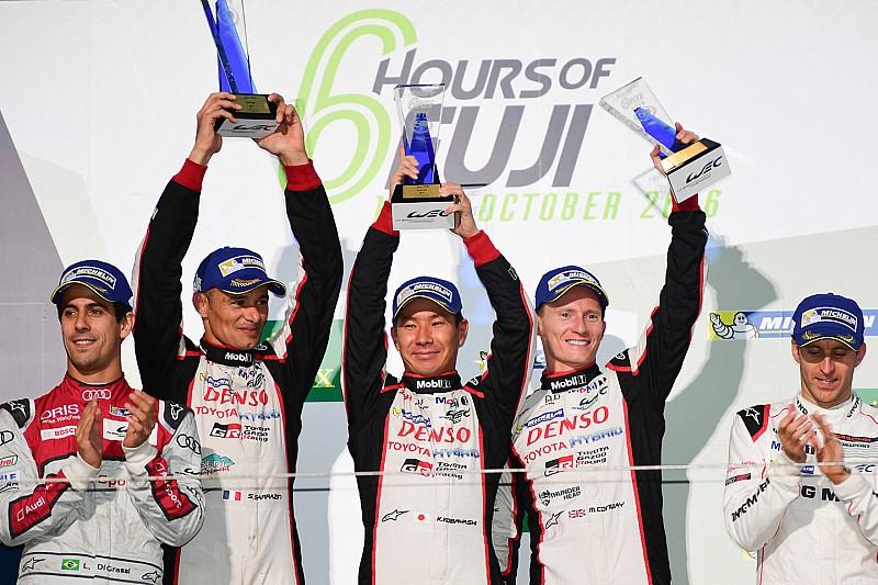 WEC富士6小时耐力赛:丰田领先1.4秒惊险夺冠