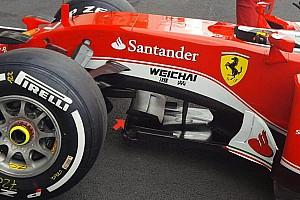 Technique - L'ailette sur le splitter de la Ferrari SF16-H