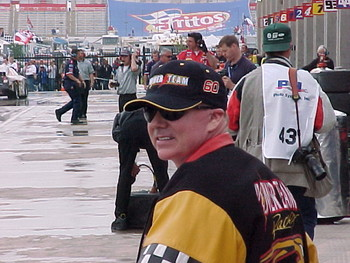 Geoffery Bodine back at the track