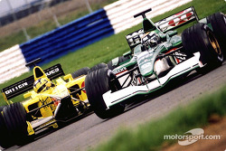 Eddie Irvine and Heinz-Harald Frentzen