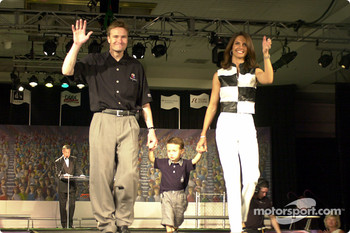 Buddy Lazier and wife Kara and son Flinn
