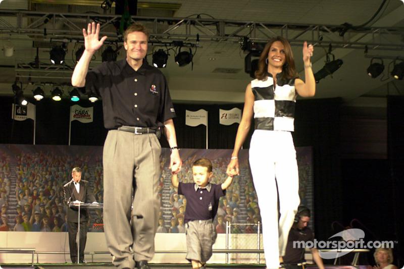Buddy Lazier and wife Kara and son Flinn