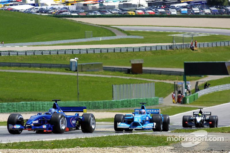 Jean Alesi, Jenson Button and Tarso Marques