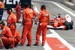 Pitstop practice with Ferrari