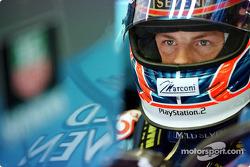 Jenson Button getting ready
