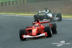 Michael Schumacher and David Coulthard