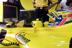 Jarno Trulli in the garage
