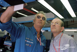 Flavio Briatore and Christian Contzen