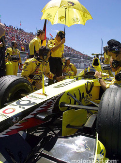 Heinz-Harald Frentzen on the grid