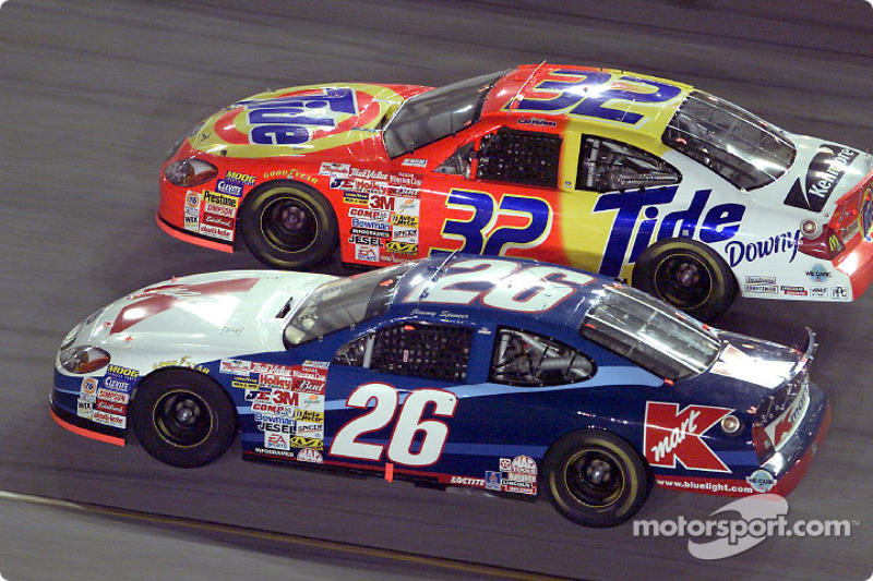 Jimmy Spencer races with Ricky Craven