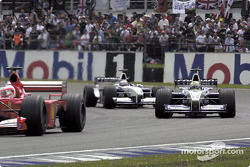 Rubens Barrichello, Ralf Schumacher and Juan Pablo Montoya