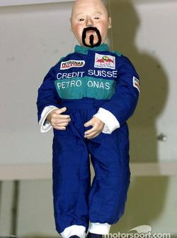 The Sauber mascot