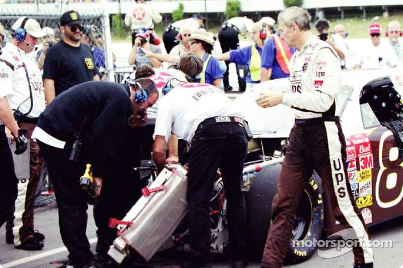 Working on Dale Jarrett's car