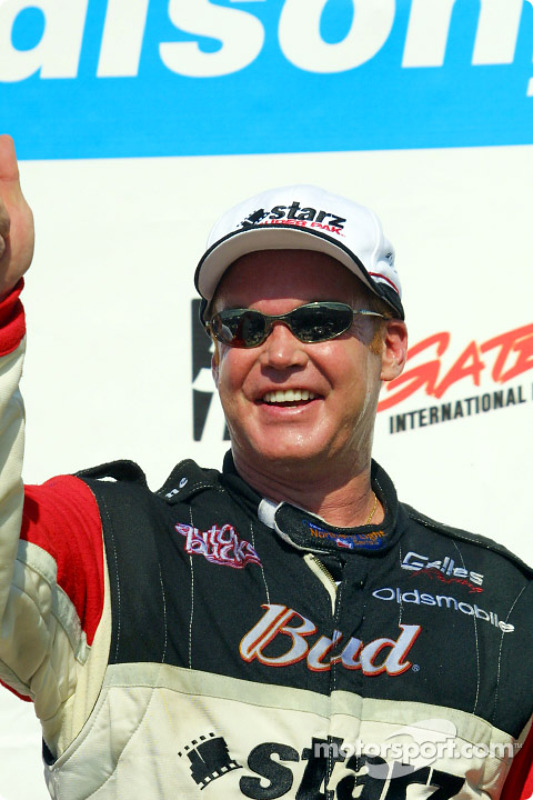 Al Unser Jr. celebrating