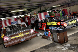 Robert Yates Racing shows their support for the recent terrorism in the United States by putting large American flags on the hoods