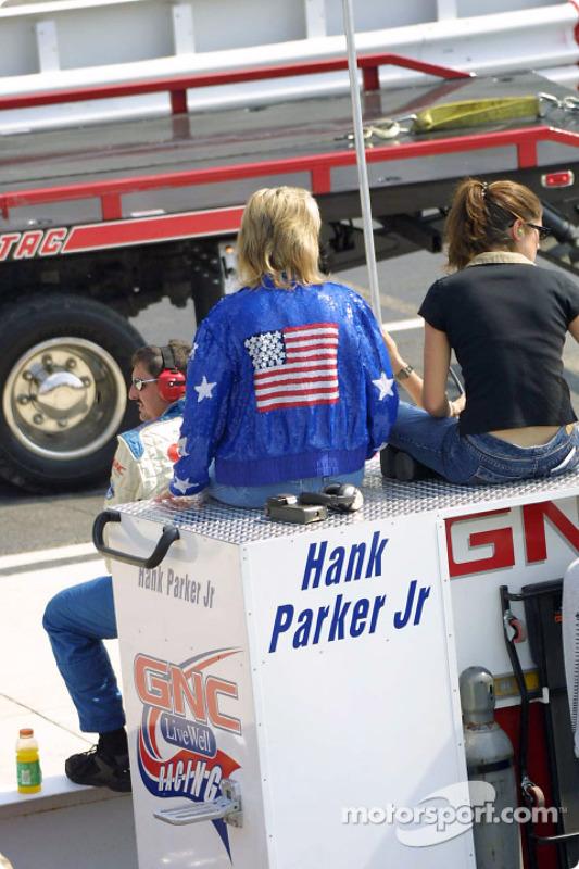 Hank Parker Jr. pit area