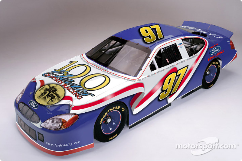 Roush Racing has agreed to help Ford celebrate the 100th Anniversary of Ford Racing by outfitting the #97 Roush Racing Ford Taurus with a special edition paint scheme for the Daytona 500